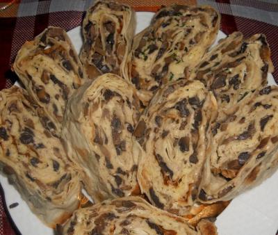 рулет с грибами из лаваша