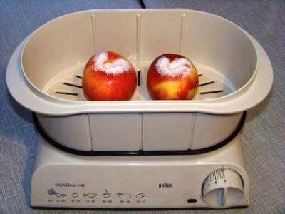 яблоки в пароварке с сахаром