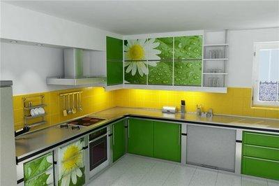 Кухня в ромашку