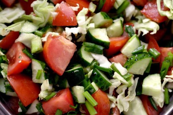 простые рецепты овощных салатов с фото