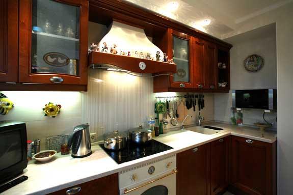 Освещение кухни на фото